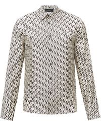 Amiri ロゴプリント シルクツイルシャツ - マルチカラー