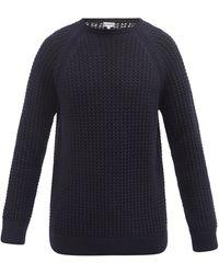Loewe ワッフルニット ウールブレンドセーター - ブルー