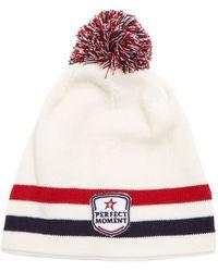 Perfect Moment - La Tour Striped Wool-blend Beanie Hat - Lyst