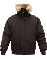 Canada Goose Chilliwack Down Filled Hooded Coat - Black