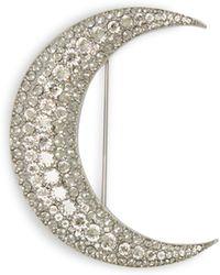 Isabel Marant - Strass Embellished Moon Brooch - Lyst