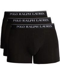 Polo Ralph Lauren Pack Of Three Cotton-blend Boxer Briefs - Black