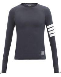 Thom Browne 4bar テクニカルジャージーコンプレッションtシャツ - ブルー