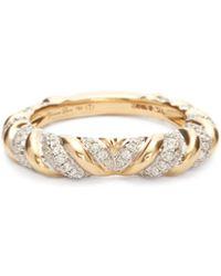 Yvonne Léon Bague en or 18 carats et diamants Heart Alliance - Multicolore