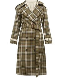 Burberry - Eastleigh Reversible Tartan Cotton Trench Coat - Lyst