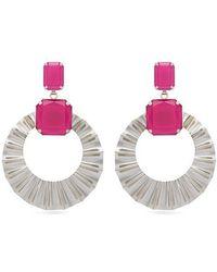 Isabel Marant - Crystal And Hoop-drop Earrings - Lyst