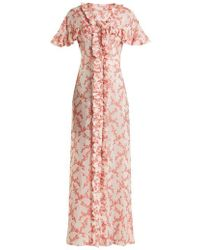 The Vampire's Wife - Charlotte Floral-jacquard Satin Dress - Lyst