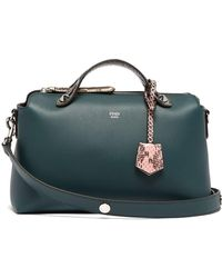 Fendi By The Way Leather And Ayers Cross Body Bag - Multicolour