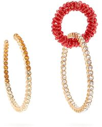 Jacquemus - Les Creoles Conca Mismatched Crystal Earrings - Lyst