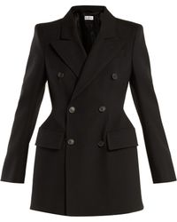 Balenciaga - Hourglass Double Breasted Wool Blazer - Lyst