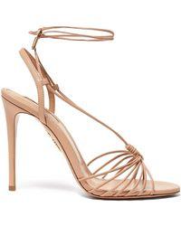 Aquazzura - Whisper 105 Leather Sandals - Lyst