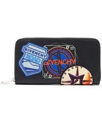 Givenchy ロゴ ラウンドファスナー レザーウォレット - マルチカラー