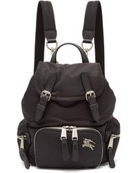 Burberry - Small Logo Plaque Backpack - Lyst