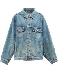 Balenciaga オーバーサイズ デニムジャケット - ブルー