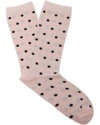 Ganni - Polka Dot Ankle Socks - Lyst