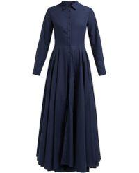 Evi Grintela Juliette Cotton Maxi Shirtdress - Blue