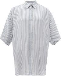 Raey ワイドスリーブ ストライプボイルシャツ - マルチカラー