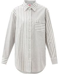 Solid & Striped The Oxford Oversized Striped Cotton-twill Shirt - Multicolour