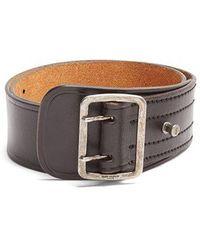 Saint Laurent - Wide Leather Belt - Lyst