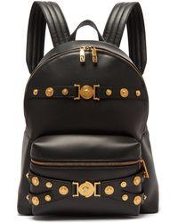abdbbd63a4 Lyst - Versace Medusa Head Backpack in Black for Men