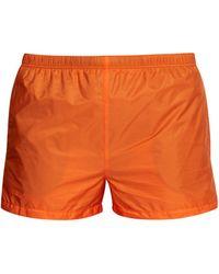 Prada Nylon Swim Shorts - Orange