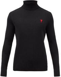 AMI De Coeur メリノウールセーター - ブラック