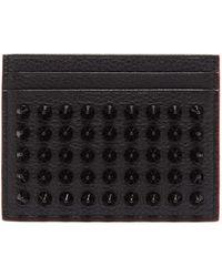 Christian Louboutin Kios Cone-stud Leather Cardholder - Black