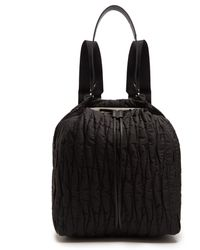 The Row Backpack 11 Quilted-nylon Backback - Black