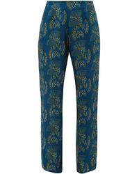 Zeus+Dione - Themis Fan Print Silk Twill Trousers - Lyst