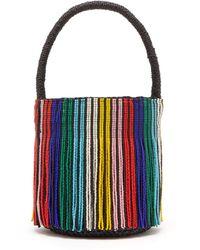 Sensi Studio - Tasseled Toquilla Straw Mini Bucket Bag - Lyst