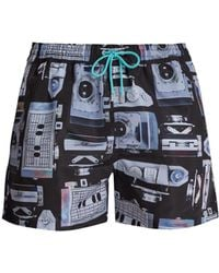 Paul Smith - Camera Print Quick Drying Swim Shorts - Lyst