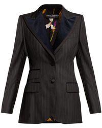 Dolce & Gabbana - Single-breasted Pinstripe Wool-blend Blazer - Lyst