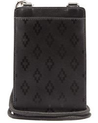 Marcelo Burlon Logo-print Leather Neck Pouch - Black