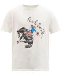 Paul Smith カウボーイ オーガニックコットンtシャツ - ホワイト