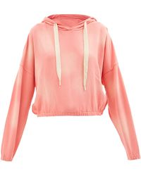 The Upside Moonstone Amelie Cotton-jersey Hooded Sweatshirt - Pink