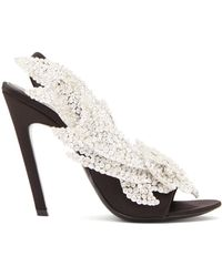 Balenciaga - Talon Slash Slingback Sandals - Lyst