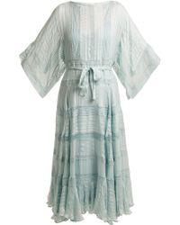 Zimmermann - Whitewave Veil Silk Dress - Lyst
