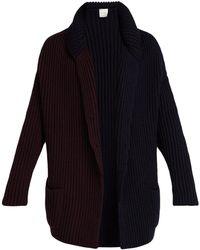 Paul Smith - Bi Colour Wool Knit Cardigan - Lyst