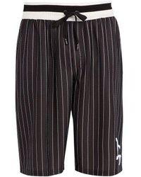 Dolce & Gabbana - - Long Logo Pinstripe Board Shorts - Mens - Black - Lyst