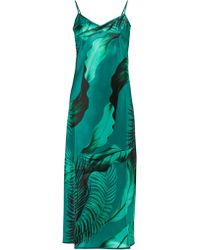 F.R.S For Restless Sleepers - Toosa Palm Print Satin Slip Dress - Lyst