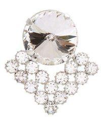 Alessandra Rich - Crystal Embellished Chain Drop Earrings - Lyst