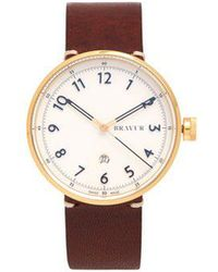 Bravur - Bw102 Stainless-steel And Leather Watch - Lyst