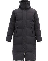 Herno Manteau en tissu imperméable à capuche Arniston - Noir