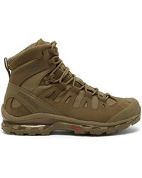 Salomon 4d Gtx Advanced Nubuck-leather And Mesh Boots - Brown
