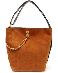Givenchy - Gv Suede And Leather Bucket Bag - Lyst