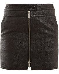 Givenchy Textured-leather Mini Skirt - Black