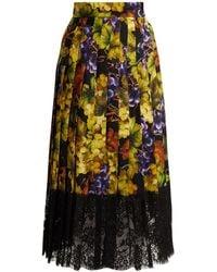 Dolce & Gabbana - Grape-print Silk-blend Skirt - Lyst