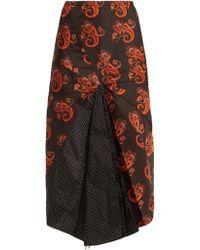 ad12c7afdd Vetements - Paisley And Polka Dot Print Umbrella Skirt - Lyst