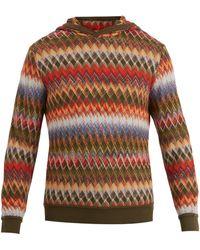 Missoni - Slouchy Zigzag-knit Hooded Jumper - Lyst