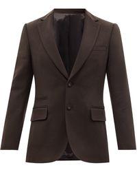 Officine Generale Officine Générale ジョバンニ ウール シングルスーツジャケット - ブラック